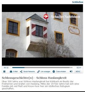 Screenshot eines der Schlossgeschichten-Videos / Foto oben: