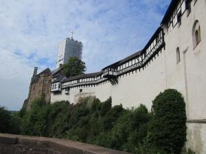 Wartburg mit eingerüstetem Bergfried