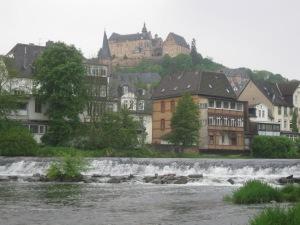 Das Marburger Landgrafenschloss thront über der Stadt